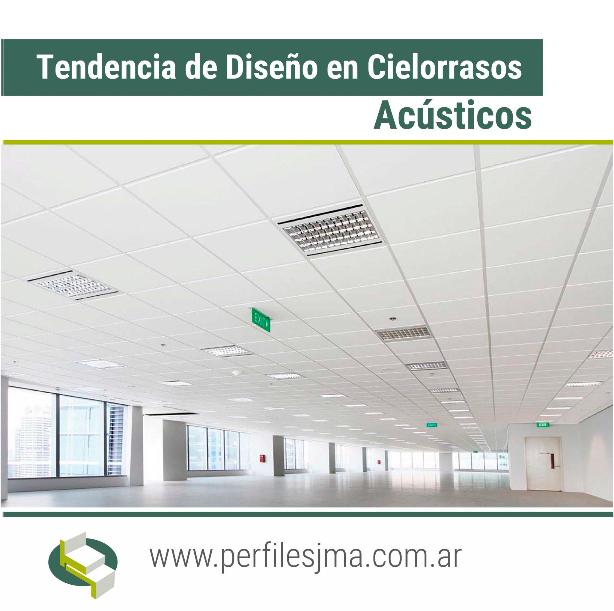 TENDENCIA DE DISEÑO EN CIELORRASOS ACUSTICOS.