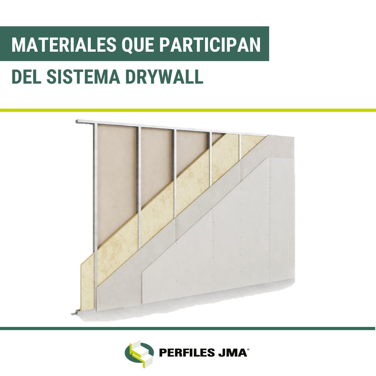 MATERIALES QUE PARTICIPAN DEL SISTEMA DRYWALL